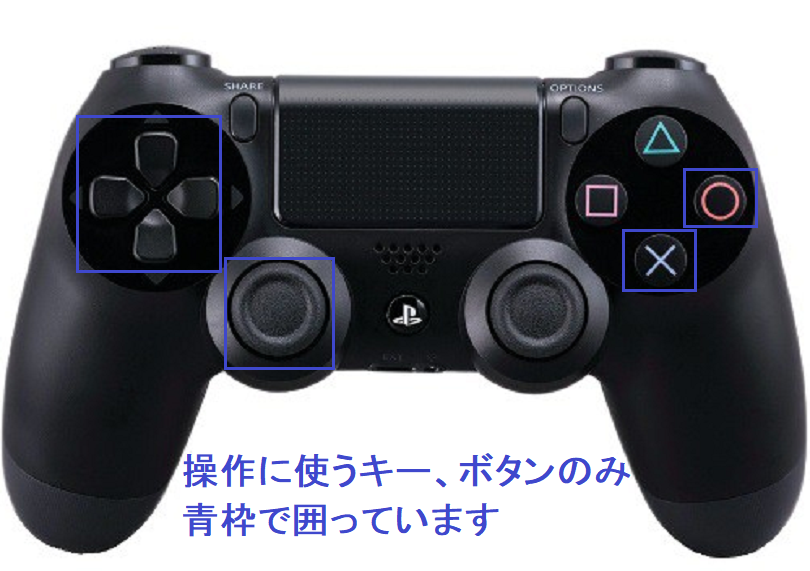 PS4コントローラでU-NEXTの動画選択時